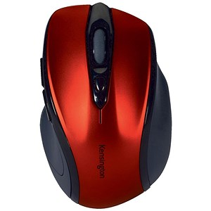 Image of Kensington Pro Fit Mouse / Mid-Size / Optical / Wireless / Red
