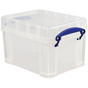Image of 3 Litre Really Useful Storage Box - Clear Strong Plastic