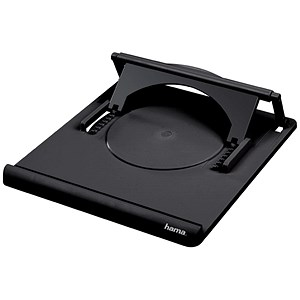 Image of Hama Notebook Laptop Stand / Portable / Variable Angle 0-20 degrees / Black