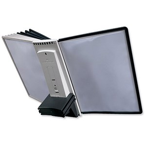 Image of Complete Desk Extension Unit / 10 Index Tabs with 5 Black & 5 Grey Panels / A4