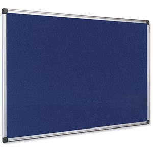 Image of Earth-It Recycled Blue Felt Notice Board / Aluminium Frame / W900xH600mm