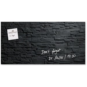 Image of Sigel Artverum High Quality Tempered Glass Magnetic Board / 910x460mm / Slate