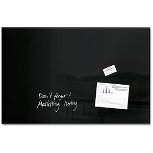 Image of Sigel Artverum High Quality Tempered Glass Magnetic Board / 1000x650mm / Black