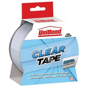 Image of UniBond Transparent Repair Tape / Waterproof / 50mm x 25m