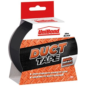 Image of UniBond Duct Tape / 50mmx25m / Black