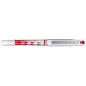 Image of Uni-ball UB-187S Eye Needle Pen / Stainless Steel Point / Fine / 0.5mm Line / Red / Pack of 12 + 2 FREE