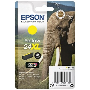 Image of Epson 24XL Yellow Inkjet Cartridge