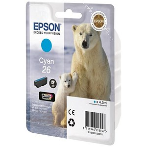 Image of Epson 26 Cyan Inkjet Cartridge