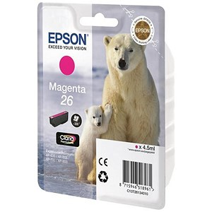 Image of Epson 26 Magenta Inkjet Cartridge
