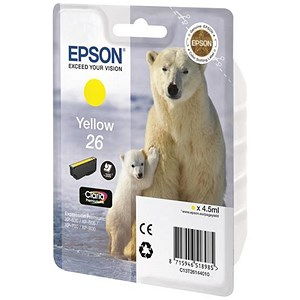 Image of Epson 26 Yellow Inkjet Cartridge