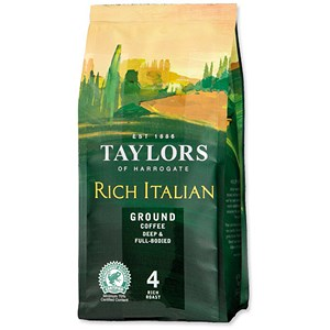 Image of Taylors of Harrogate Rich Italian Ground Coffee / Dark Roast / 227g