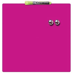 Image of Rexel Square Tile Magnetic Drywipe Board / 360x360mm / Shocking Pink