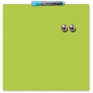 Image of Rexel Square Tile Magnetic Drywipe Board / 360x360mm / Lime
