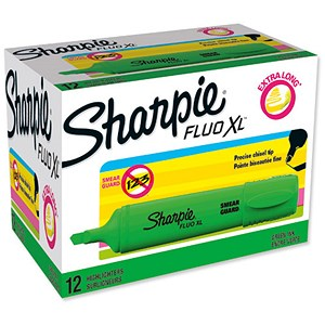 Image of Sharpie Fluo XL Highlighter / Green / Pack of 12