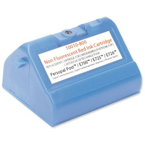 Image of Totalpost Compatible Red Franking Inkjet Cartridge / Equivalent to Pitney Bowes E74092-001/E74178-001