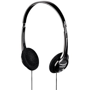 Image of Computer Padded Headset / Volume Control / 1.2m Cable / Black