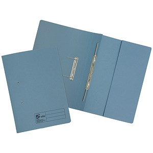 Image of 5 Star Transfer Spring Files with Pocket / 380gsm / Foolscap / Blue / Pack of 25