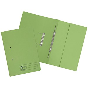 Image of 5 Star Pocket Transfer Files / 380gsm / Foolscap / Green / Pack of 25
