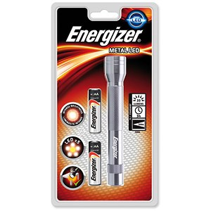 Image of Energizer Metal LED Torch 2xAA Batteries FL1 Ref 634041