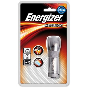 Image of Energizer Small Metal LED Torch 3AAA Ref 633657