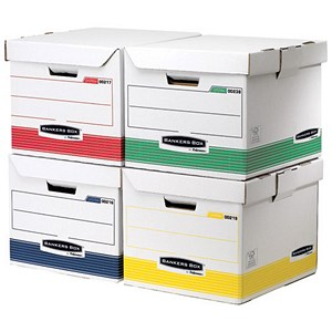 Image of Fellowes Bankers Box Flip Top Storage Cubes Rainbow Pack - Pack of 12