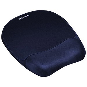 Image of Fellowes Memory Foam Mousepad with Wrist Support - Blue