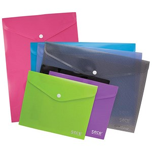 Image of SSeco Landscape A5 Wallets / Oxo-biodegradable Polypropylene / Assorted / Pack of 5