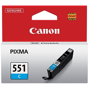 Image of Canon CLI-551 Cyan Inkjet Cartridge