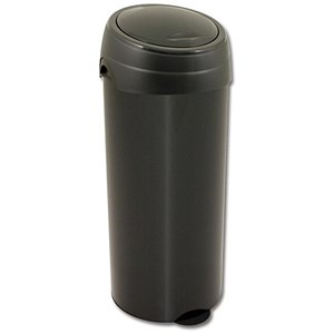 Image of Deluxe Press Top Bin / Plastic / 40 Litre / Black
