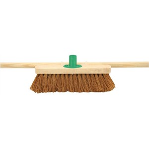 Image of Bentley 12 inch Soft Coco Broom with Handle & Bracket