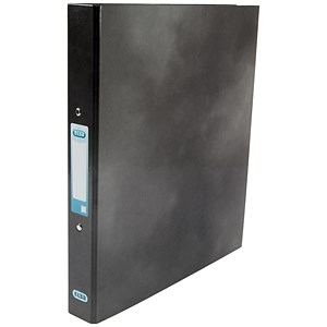 Image of Elba Ring Binder / Gloss Finish / 2 O-Ring / 40mm Spine / 25mm Capacity / A4 Black