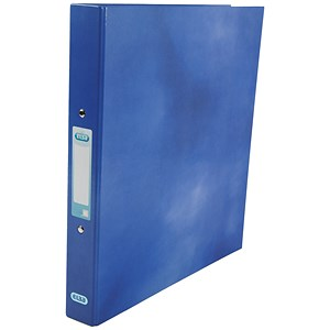 Image of Elba Ring Binder / Gloss Finish / 2 O-Ring / 40mm Spine / 25mm Capacity / A4 Blue