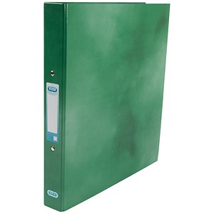 Image of Elba Ring Binder / Gloss Finish / 2 O-Ring / 40mm Spine / 25mm Capacity / A4 Green
