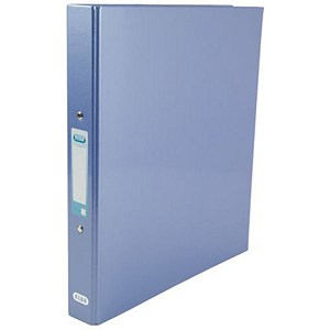 Image of Elba Ring Binder / Gloss Finish / 2 O-Ring / 40mm Spine / 25mm Capacity / A4 Metallic Blue