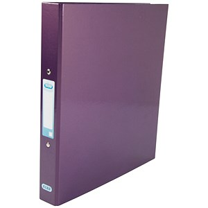 Image of Elba Ring Binder / Gloss Finish / 2 O-Ring / 40mm Spine / 25mm Capacity / A4 Metallic Purple