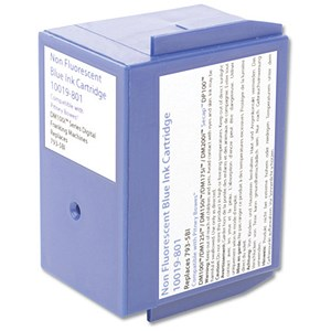 Image of Totalpost Compatible Blue Franking Inkjet Cartridge / Equivalent to Pitney Bowes DM100i Series