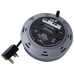 Image of 2-Way Extension Reel / 13 Amp / 4m