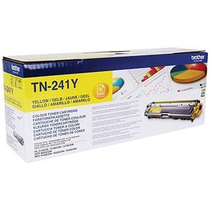 Image of Brother TN241Y Yellow Laser Toner Cartridge