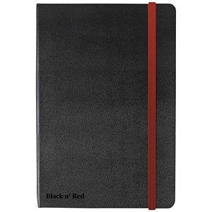 Image of Black n' Red Casebound Notebook / A5 / Ruled & Numbered / 144 Pages