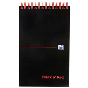 Image of Black n' Red Reporters Notebook / 125x200mm / Ruled / 140 Pages / Pack of 5