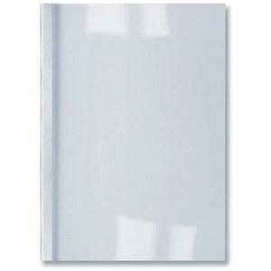 Image of GBC Thermal Binding Covers / 3mm / Leathergrain / White / A4 / Pack of 100