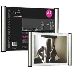 Image of 2-Sided Snap Frame / Aluminium / A4