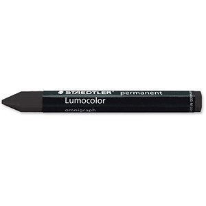 Image of Staedtler 236 Lumocolor Omnigraph Marking Crayons / Smudgeproof / Black / Pack of 12