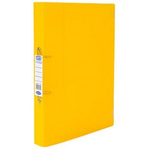 Image of Elba Snap Binder / 40mm Spine / 25mm Capacity / A4 Yellow / Pack of 10
