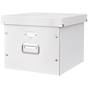 Image of Leitz WOW Click & Store Archive Box For A4 Suspension Files - White