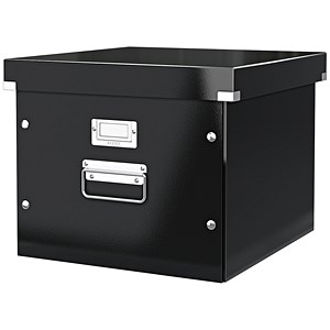 Image of Leitz WOW Click & Store Archive Box For A4 Suspension Files - Black