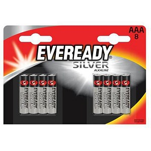 Image of Eveready Silver Alkaline Battery / AAA / Pack of 8