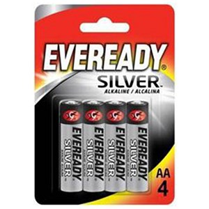 Image of Eveready Silver Alkaline Battery / AA / Pack of 4