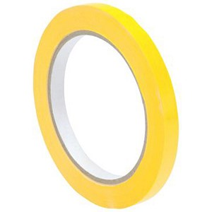 Image of Bag Sealer Tape / 9mmx66m / Vinyl / Yellow / Pack of 6