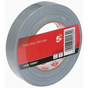 Image of 5 Star Heavy-duty Cloth Tape Roll / 25mmx50m / Silver